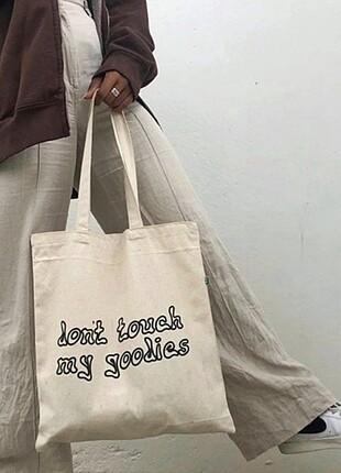 Don't Touch My Goodies Yazılı Bez Çanta
