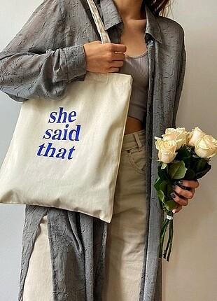 Yazılı Bez Çanta