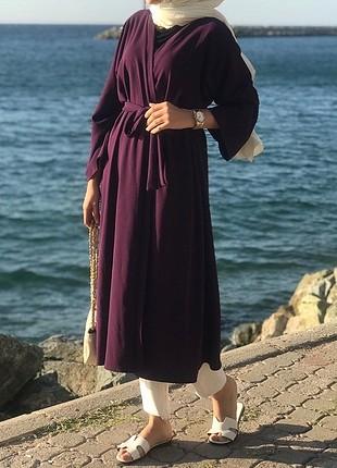 m Beden mor Renk mor kimono