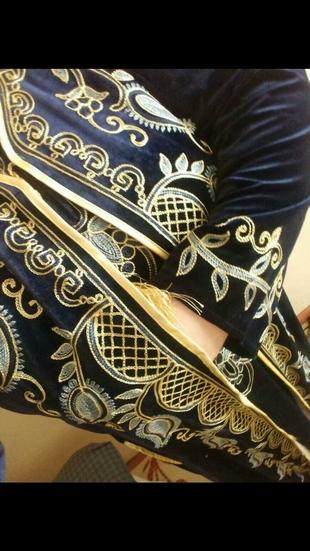 Kadife abiye elbise