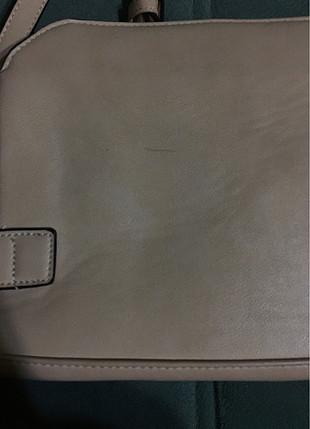 Kullanılmamış temiz ten rengi çanta