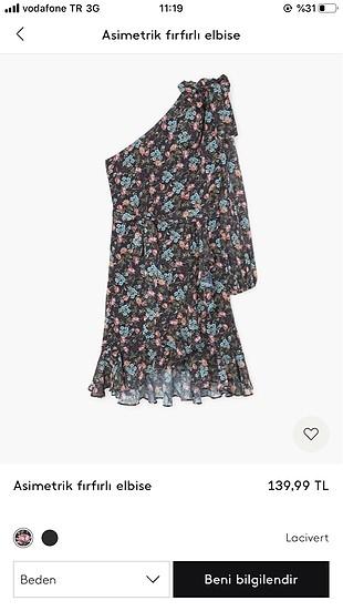 l Beden Yazlık elbise