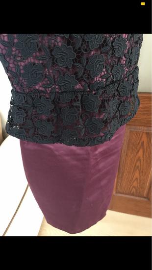 36 Beden mürdüm Renk İpekyol Kına nişan mezuniyet elbisesi