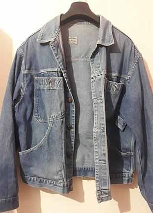 Oversize Mavi Kot Ceket
