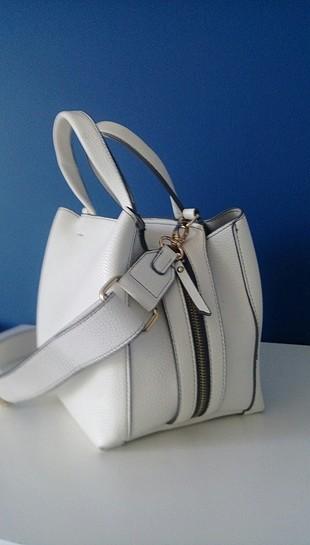 beyaz deri çanta