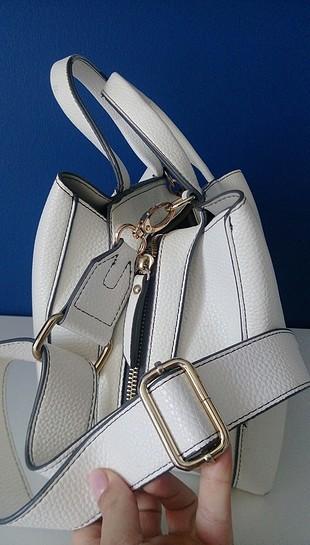 ipekyol beyaz deri çanta