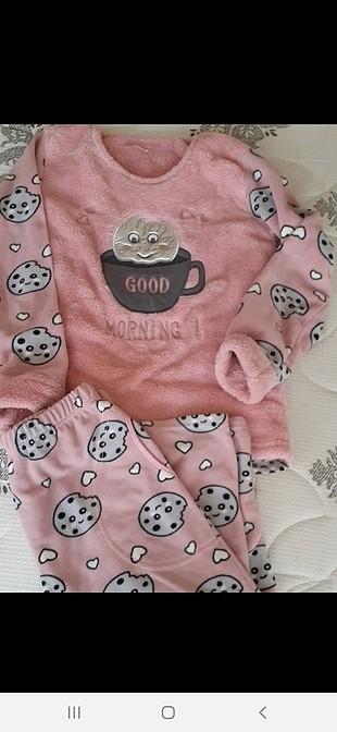 peluş pijama takımı