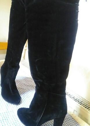 Süet çorap çizme