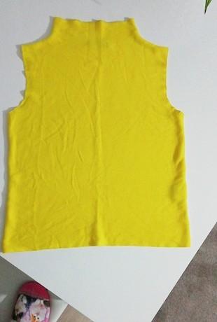 sarı triko bluz