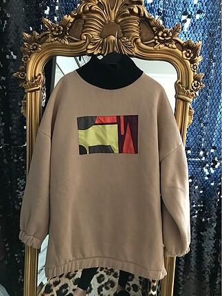 Boğazlı sweatshirt