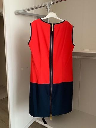 Diğer Kırmızı Lacivert Kısa İnce Elbise