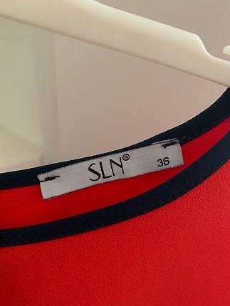 36 Beden Kırmızı Lacivert Kısa İnce Elbise