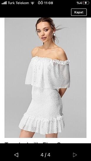 Trendyol & Milla Fırfır detaylı büzgülü elbise