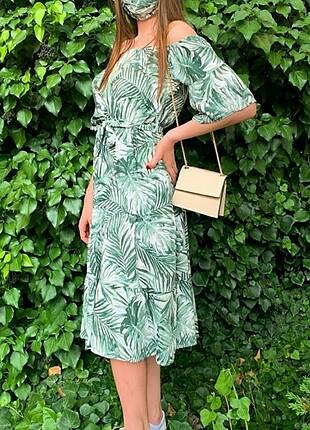 Günlük Yeşil Uzun Elbise