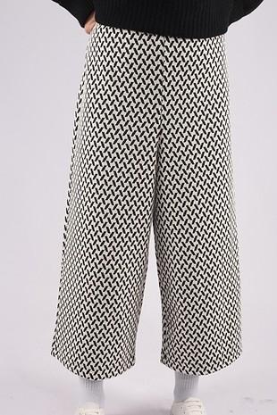 siyah Beyaz desenli pantolon
