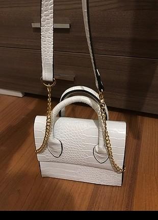 Zara Beyaz çanta