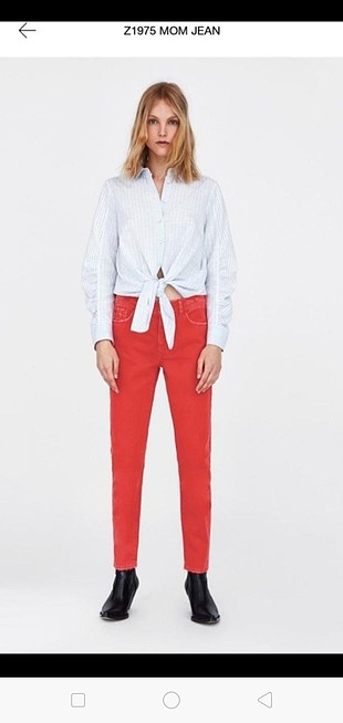 xs Beden nar çiçeği Renk zara Jean