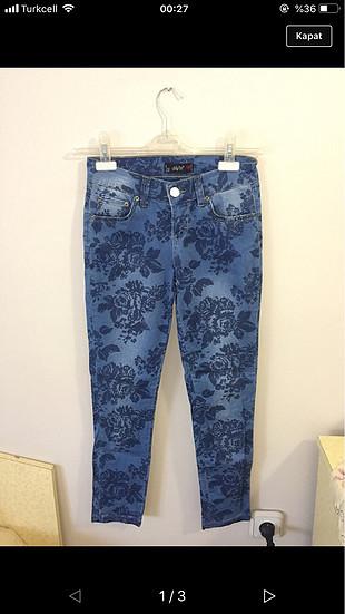 Dilvin çiçekli pantolon