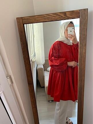 m Beden kırmızı Renk Tunik