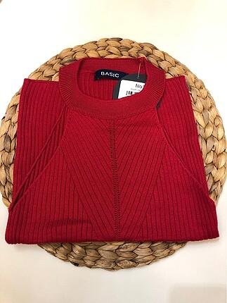 Kırmızı-bordo triko
