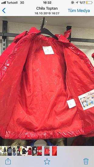 l Beden kırmızı Renk Orjinal moncler