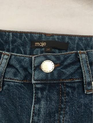 xs Beden mavi Renk İncili pantolon
