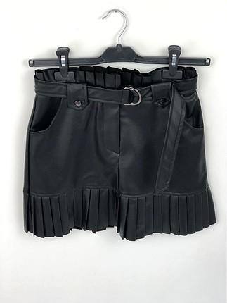 Deri Zara Model Etek