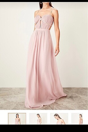 Trendyol&Milla pudra elbise