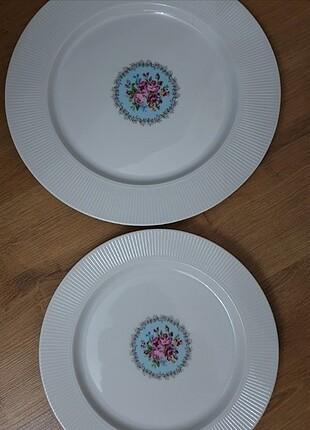 6 adet servis tabağı 6 parca pasta tabağı güral porselen