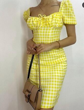 Zara pötikareli sırt dekolteli elbise