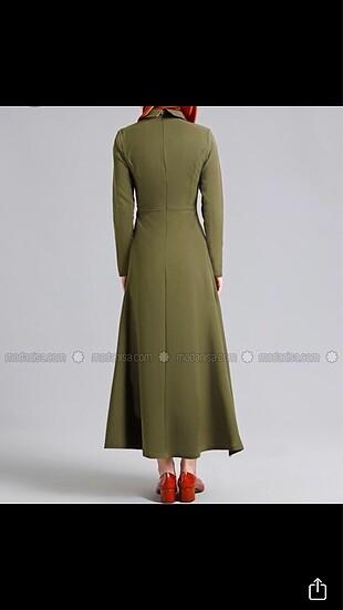 36 Beden Refka Haki Tesettür Elbise