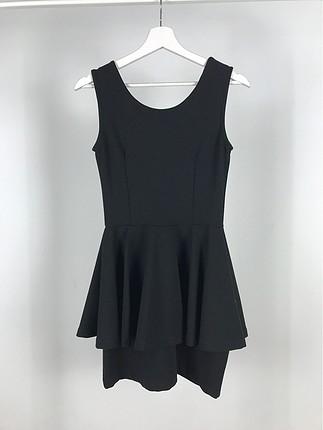 Volanlı Sıfır Kol Elbise
