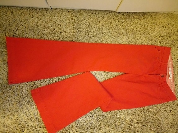 Koton Kırmızı İspanyol Paça Jean