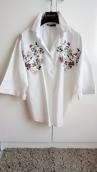 ???? Kimono Model Nakışlı Bluz ????