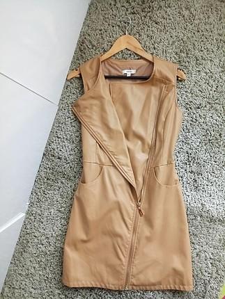 Koton Deri Ceket Elbise
