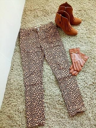 Koton Desenli Skinny pantolon