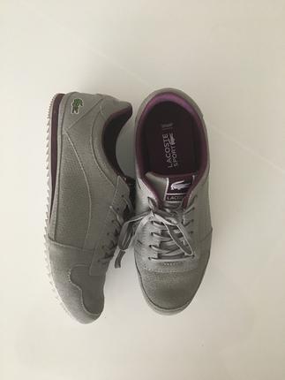 Gri Lacoste Ayakkabı (yeni)