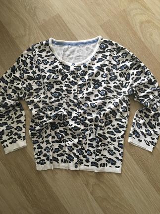 Mavi leopar triko