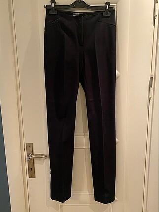 Joseph siyah elastik kumaş pantolon