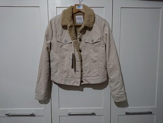tüylü kadife ceket