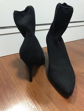 37 Beden Siyah çorap bot