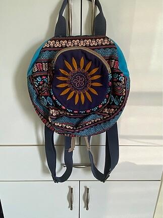Etnik desen bohem sırt çantası