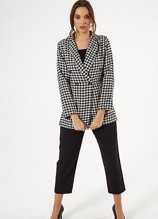 Trendyol & Milla Kazayağı desenli ceket