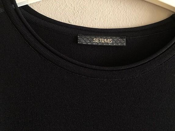 Setrems marka siyah merserize elbise