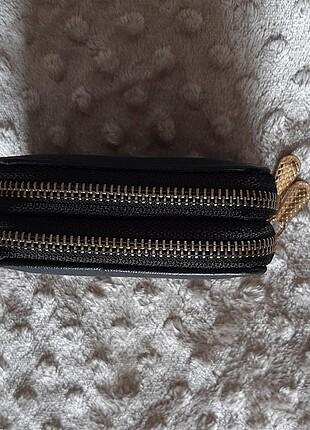 Siyah kadın mini cüzdan