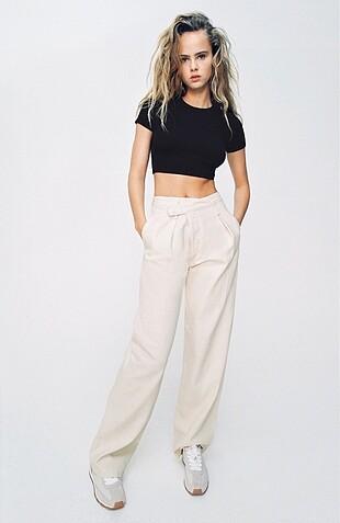 Zara asimetrik pantolon