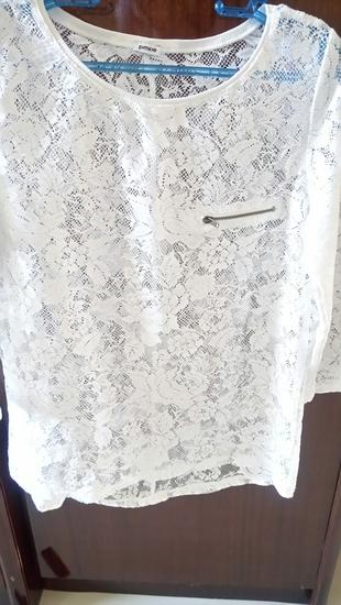 beyaz dantel bluz