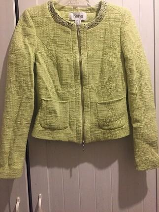 Açık yeşil ceket