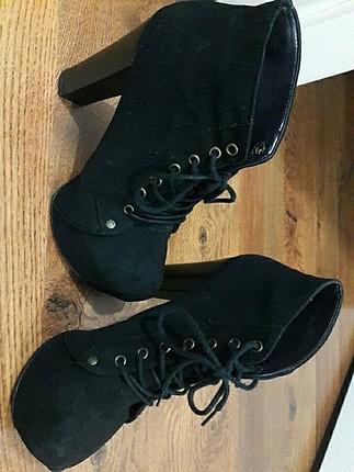 Platform tapuk kısa ayakkabı