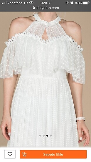 s Beden beyaz Renk Elbise (özel gün)